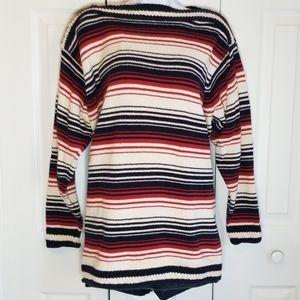 Liz Claiborne Oversized Striped Knit Sweater Sz L